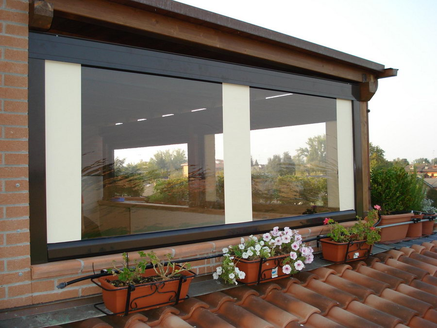 Tende in pvc trasparente per balconi pannelli termoisolanti - Verande su terrazzi ...