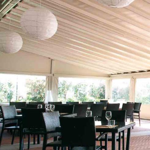 Pergolati a firenze in alluminio e legno abc tende for Tende frama